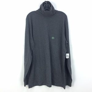 NWT L.L. Bean GRY Traditional Fit Carefree Unshrinkable Turtleneck Shirt